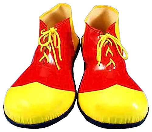 Forum Novelties Children's Sized Clown Shoes, Red and Yellow, (Jumbo Red Clown Shoes)