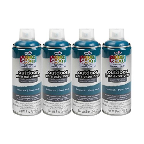 (Bulk buy: Tulip ColorShot Outdoor Upholstery Spray Paint 8 oz. 4-pack, Peacock)