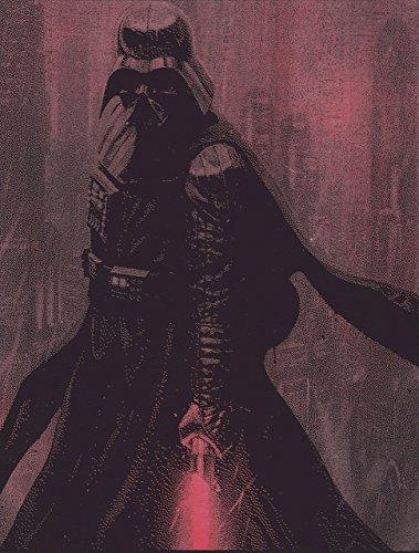 Darth Vader Poster - Darth Vader Lightsaber Sky Background Metal Painting Poster Star Wars Spray Paint