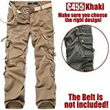SICIKIES Men's Hip Hop Washed Cotton Casual Military Sweatpants