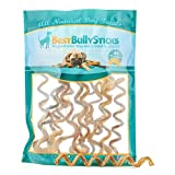 Best Bully Sticks All-Natural 10-12 Inch Curly Bully Sticks by (12 Pack) Made of All-Natural, Free Range Grass Fed Beef