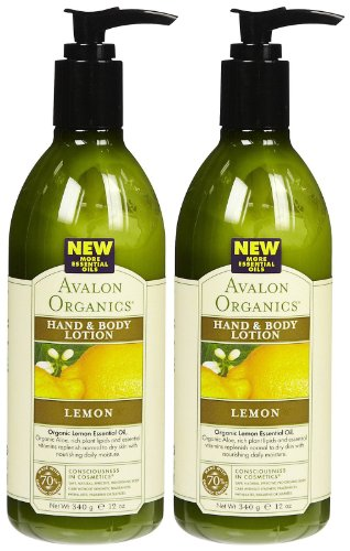 Hand & Body Lotion, Lemon, 12 oz, 2 pk