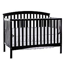 Dream On Me Eden 5 in 1 Convertible Crib, Black