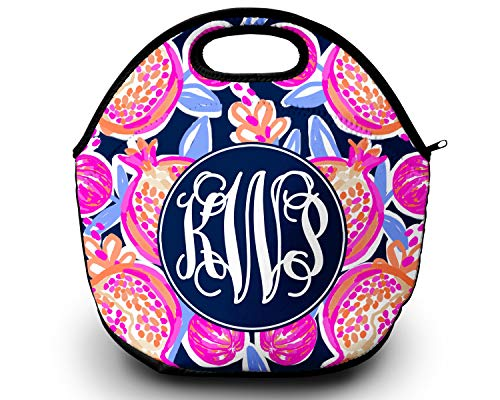 Lilly Pulitzer Inspired Lunch Box Monogram Lunch Bag Novelty Gift Gift For Her Lunch Bag for Women