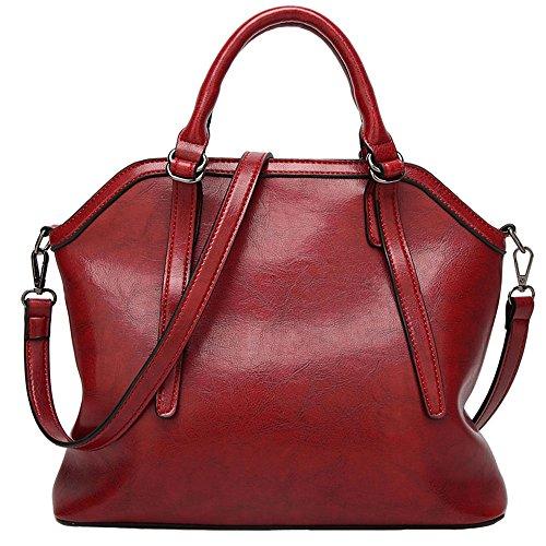 match Burgundy Women FiveloveTwo Handbag Tote Handle Bag All Satchel Bag Shoulder Purse wE7qqSa