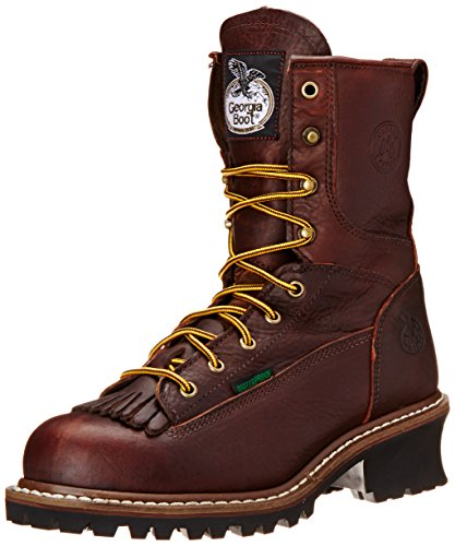Georgia Boot Men's Loggers G7313 Work Boot,Tumbled Chocolate,11 W (Toe Boots Chocolate)