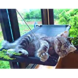 Cat Window Perch Cat Hammock Bed Window Seat with Durable Heavy Duty Suction Cups Cat Bed Holds Up to 50lbs Pet Resting Seat Mount onto Window for Space Saving