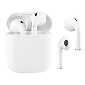 Inalámbrico de auriculares, i8 TWS Auriculares estéreo con cargador, Apple iPhone 8 8plus 7 7Plus 6S de altavoces Samsung Galaxia S7 S8 Smartphone Android ...