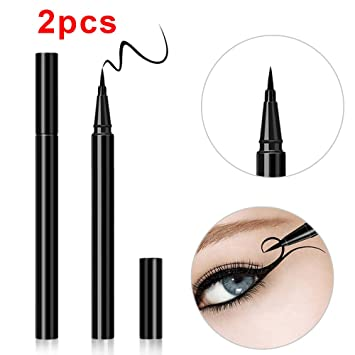 438071a1e ... Liquid Eyeliner Pencil, Waterproof Eye liner Pen Makeup Set for for  Girls Women, Infallible Super Slim Long-Lasting Cosmetics Beauty Tools :  Beauty