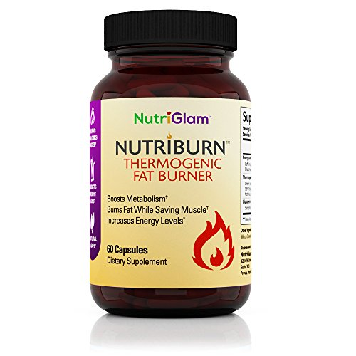NutriGlam NutriBurn Thermogenic Fat Burner for Men and Women - Weight Loss Supplement, Appetite Suppressant, Metabolism Booster, Energy - Caffeine, Green Tea Extract, Raspberry Ketones-60 Diet Pills