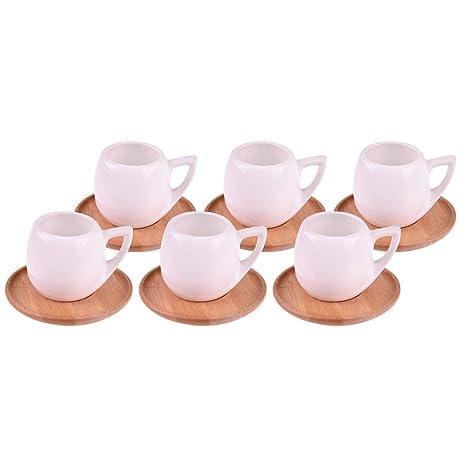 12 Pcs  Ceramics Turkish//Arabic Coffee//Expresso Cups /& Saucers Set