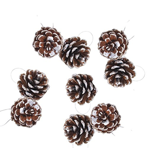 BESTOYARD 9pcs Christmas Pine Cones Pinecone Ornaments for Christmas Tree Decoration Crafts Home Holiday Party (Pinecone Christmas Crafts)
