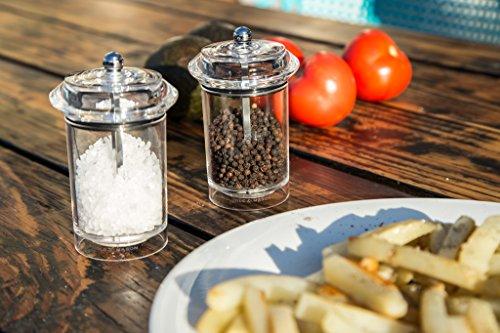COLE & MASON Solo Salt Grinder - Acrylic Mill Includes Precision Mechanism and Premium Sea Salt by Cole & Mason (Image #1)