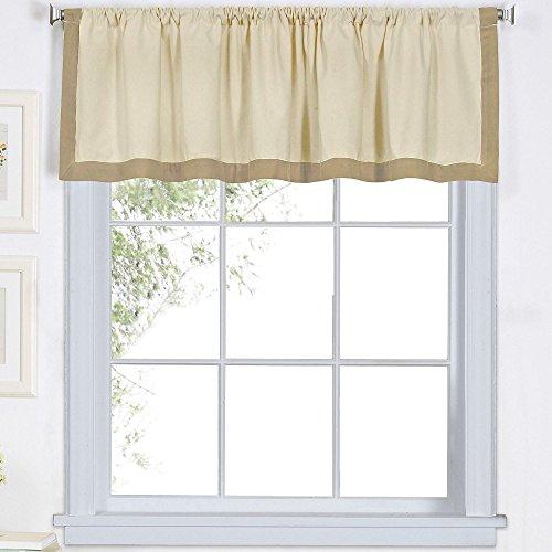 Elrene Wilton Cotton Kitchen Window Valance LINEN