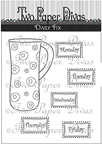 Two Paper Divas Stamps, Daily Fix