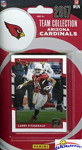 Arizona Cardinals 2017 Donruss NFL Football Factory Sealed Limited Edition 12 Card Complete Team Set with Larry Fitzgerald, Carson Palmer, David Johnson & Many More! Shipped in Bubble Mailer! WOWZZER! (Football Cardinals Card)