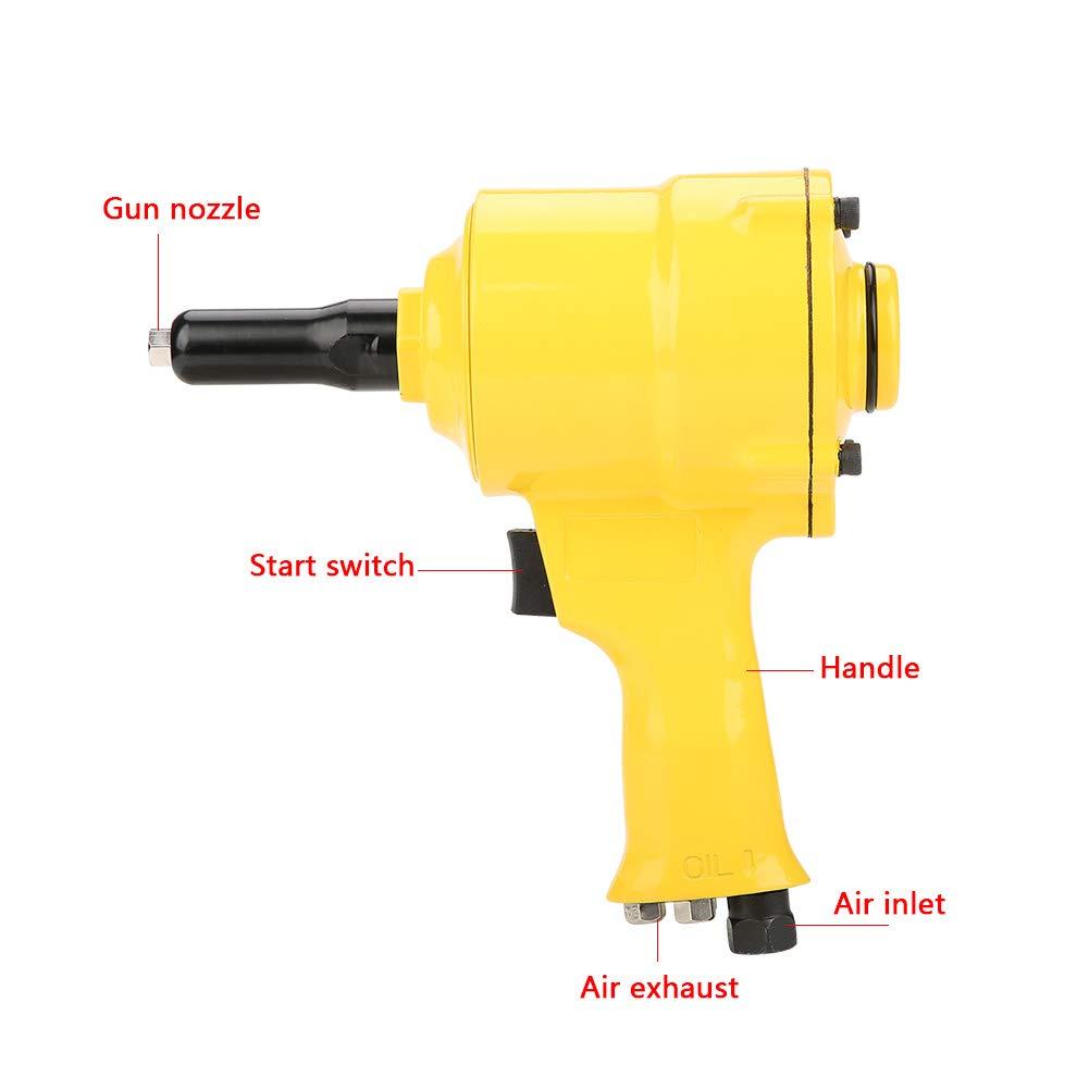 FTVOGUE KP-705P Pistolet /à Riveter Pneumatique /à Air adapt/é outil de rivetage en Aluminium Clou en Acier