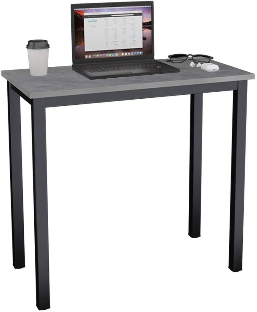 Need Small Computer Desk 31.5 inches Sturdy Writing Desk for Small Spaces, Small Desk Teens Desk Study Table Laptop Desk,Grey AC3-8040-LB
