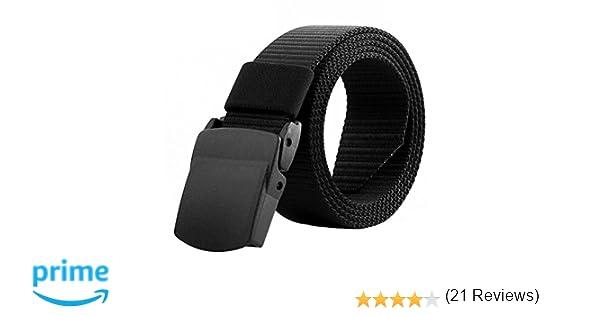Tinksky Cinturón militar de los hombres de la correa ajustable Cinturón táctico al aire libre ajustable con la hebilla plástica, regalos del día ...