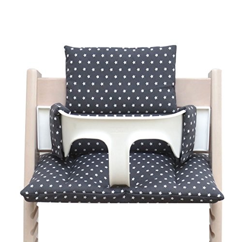 Blausberg Baby - Cushion Set for Tripp Trapp High Chair of Stokke - Anthracite Stars