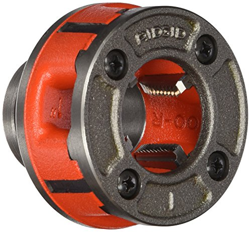RIDGID 36895 Model OO-R Die Head, 12R Alloy Die Head comes with 3/4-inch High-Speed, Factory Set Dies that Deliver Clean, Precise 14 TPI (Die Head 3/4)