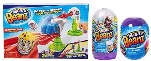 Mighty Beanz Slam Pack 8 Pack Bundle 8 Pack Slam Pack, Slammer Time Race Track, 2 Pack Pod Capsule & Star 3D Cube Puzzle