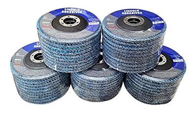 """50 Pack Flap Discs 60 Grit 4.5"""" x 7/8"""" Sanding Wheels"""