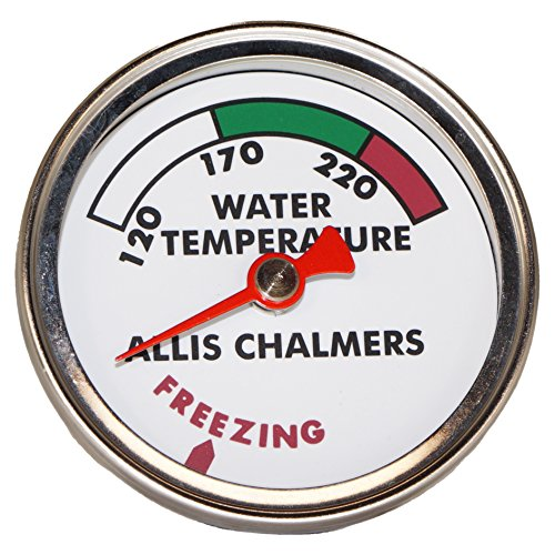 DJS Tractor Parts / Allis Chalmers Water Temperature Gauge with White Face - AC-064D