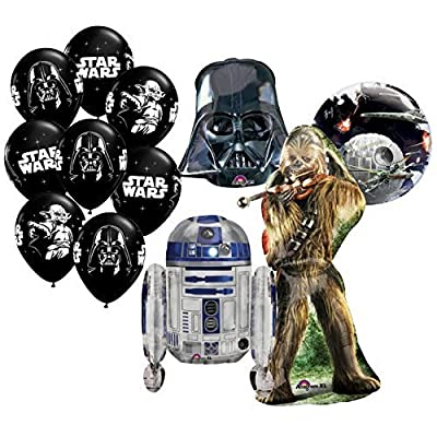 The Ultimate 12pc Star Wars Birthday Balloon Bouquet by Anagram: Toys & Games