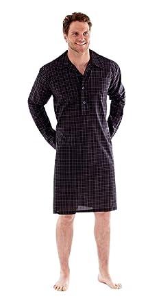 5aacfc7dc0 Mens Nightshirt Sleepwear Pyjamas Lighweight Yarn Dyed Poly Cotton - M - XXL  Harvey James