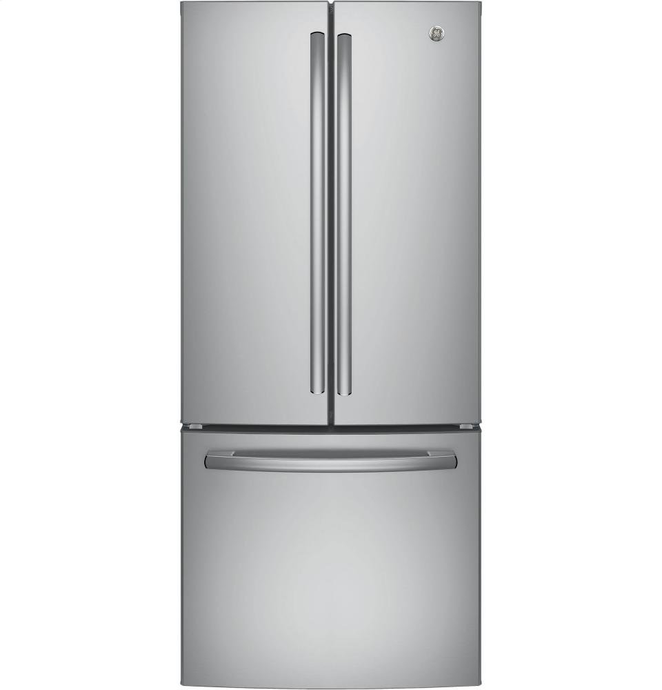 Amazon ge gne21fmkes 208 cu ft slate french door ge gne21fskss 30 energy star qualified french door refrigerator with 208 cu ft rubansaba