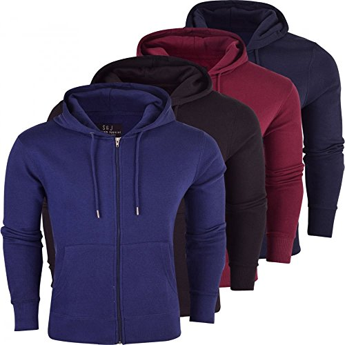 Fleece Zip Colours Hoodie Sweatshirt Black Men's Plain Smith Jumper Full amp; Jones Thru qwpZxHRS