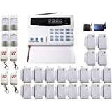 iMeshbean® New PSTN 99 Zones Wireless Voice Home Security Alarm Burglar System Auto Dialer with LCD Display DIY Kit USA