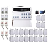 iMeshbean Premium 108 Zones PSTN Wireless Voice Message Home Security Alarm Burglar System Auto Dialer with LCD Display DIY Kit , Easy to Install and Operate USA