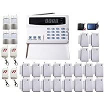 iMeshbean SA06 99 Zones Wireless Home Security Alarm System Kit with Auto Dial + 20 PCS Door / Window Sensor + Outdoor Siren USA