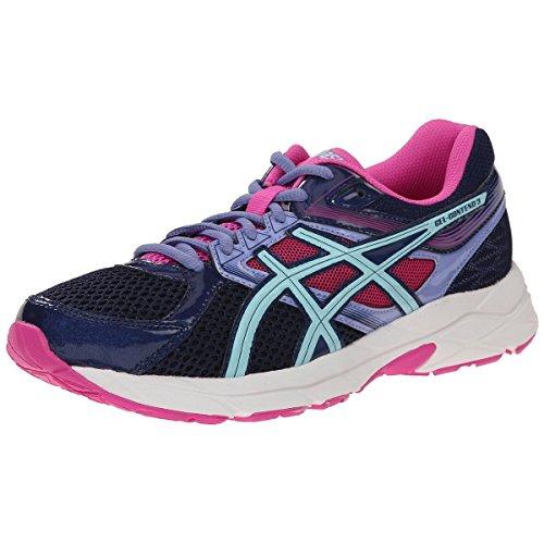 ASICS Women's Gel-contend 3 Running Shoe, Indigo Blue/Aqua Splash/Pink Glow, 6.5 D US