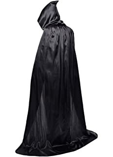 Unisex Hooded Cloak Role Cape Family Robes Costumes Full Length