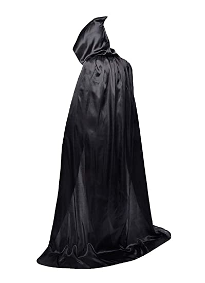 f7056034d36bb Beautifulfashionlife Child Black Cape with Hood Robe Role Halloween Death  Costume Black 80m XS