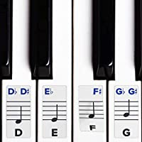 Piano Stickers for Keys – Removable w/Double Layer...