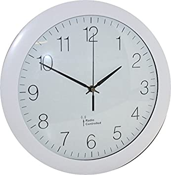 Eurotime Funkuhr Weiss 30cm 51800 Uk Version Amazon De Kuche