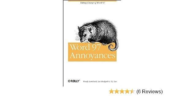 Word 97 Annoyances