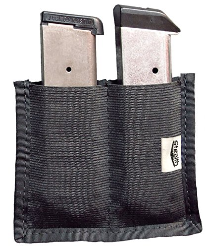 STEALTH Velcro Double Clip Pouch Magazine Holder Gun Safe Accessory (1)