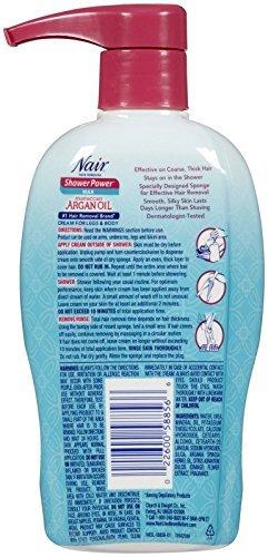 Nair Shower Power Nourish Moroccan Argan Oil & Orange Blossom Nair Hair Remover Unisex 13 oz (Pack of 5)