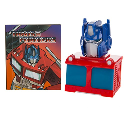Transformers toys G1 Optimus Prime Autobot Mini Light Up Bust and Illustrated Book Set By Running Press ()