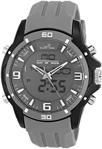 U.S. Polo Assn. Sport Men's US9492 Analog-Digital Display Analog Quartz Gray Watch