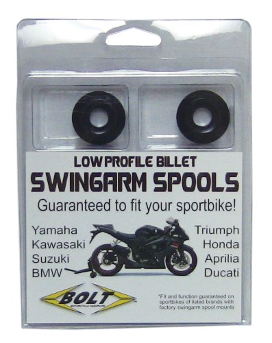 Bolt Motorcycle Hardware (2009-SSS.BK) Black Sport Bike Swing Arm Spool