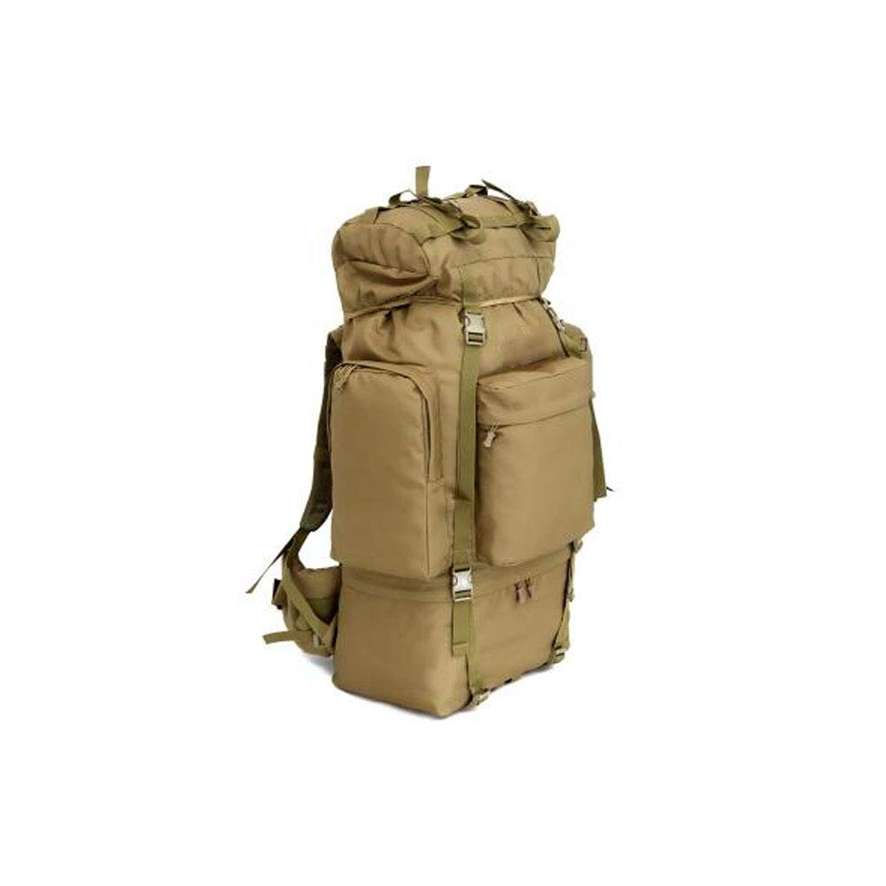 軍の大容量の屋外の携帯用バックパック、屋外のキャンプの迷彩登山の超大容量100Lの肩旅行軍隊ファン戦術的で大きいバックパック B07S1T8GXX Brown 100L