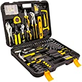 Rapesee 212 Pieces Home Mechanic Repair Tool Set Basic Craftsman Starter Household Hand Tool Kit with Plastic Tool Box Storage (212 pieces)