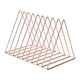Li Na Home Bookcases Nordic creative minimalist modern iron bookshelf Triangle Magazine Rack Desktop storage rack Desk rack Mini Pyramid Shelf (Easy to carry)