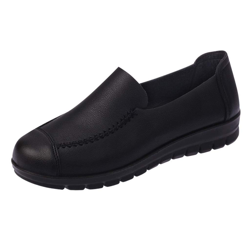 478dfe7e90446b Classic slip on toe flats shoes women leisure solid jpg 1024x1024 Non skid  shoes payless